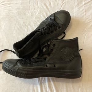Leather Converse All-stars